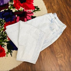 Vintage Stefano Acid Wash Lace Plus Size Mom Jeans